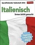 Sprachkalender Italienisch - lernen leicht gemacht - Tagesabreißkalender 2022 mit Grammatik - & Wortschatztraining - zum Aufstellen oder Aufhängen - 12,5 x 16 cm