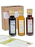 direct&friendly Bio Geschenkset und Probierset 3x100 ml Flaschen Bio Balsam Essige