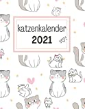 katzenkalender 2021: XXL kalenderbuch 2021 Din a4- Monats und Wochenkalender - Geschenke für katzenliebhaber katzenfreunde zu weihnachten