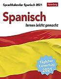 Sprachkalender - Spanisch lernen leicht gemacht - Kalender 2021 - Harenberg-Verlag - Tagesabreißkalender - 13cm x 15,8 cm