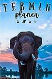 Terminplaner 2021 Elefant: Elefanten kalender 2021   Wochenplaner 2021 A5 Planer organizer   Taschenkalender und Terminkalender Wochenkalender - ... männer Elefantenliebhabe elephant lover