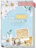 Family-Timer 2021/2022 A5 [Good Times] Der Familien-Kalender! 18 Monate: Juli 21 bis Dezember 22   Familien-Planer für bis zu 4 Personen + viele hilfreiche Features   nachhaltig & klimaneutral