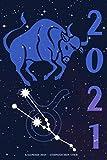 Kalender 2021 - Sternzeichen Stier: Kalender mit Sternzeichen | Wochenplaner mit 70 Seiten | 15,24 cm X 22,86 cm ( 6 X 9 Inches )