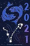 Kalender 2021 - Sternzeichen Fische: Terminplaner mit Sternzeichen | Wochenplaner mit 70 Seiten | 15,24 cm X 22,86 cm ( 6 X 9 Inches )