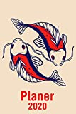 Planer 2020 - Fische: Januar 2020 bis Dezember 2020 - Wochen- und Monatsplaner, Terminplaner, Kalender, Kontaktliste, Geburtstagsliste, Geschenkideen, Habit Tracker uvm.