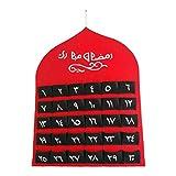 lingzhuo-shop Ramadan Kalender Filz, Adventskalender, 2020 Ramadan Dekorationen , Wand 30 Tage Für Kinder Eid Geschenke Home Decoration , Rot , 40 55cm