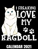 I Freaking Love My Ragdoll Calendar 2021: Ragdoll Cat Lover Calendar 2021 - Appointment Planner Book And Organizer Journal - Weekly - Monthly - Yearly