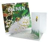 Bienen-Kalender 2021 (21 x 21 cm) für Wand und Tisch