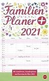 Familienplaner plus Tasche - Kalender 2021 - Heye-Verlag - Familienkalender - Mit 5 Spalten mit Schulferien - 21 cm x 45 cm