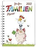 Helme Heine Familienplaner Buch A5 2022 - Kalenderbuch - Taschenkalender mit 5 Namensspalten, Einstecktasche, Lineal, Schulferien - 160 Seiten - 15,2 x 23,2 cm