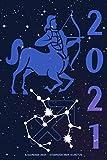 Kalender 2021 - Sternzeichen Schütze: Terminplaner mit Sternzeichen | Wochenplaner mit 70 Seiten | 15,24 cm X 22,86 cm ( 6 X 9 Inches )