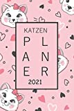 Katzenplaner 2021: A5 Katzenkalender für 2021 mit Premium Cover | Wochenplaner mit inspirierende Zitate | elegantes Softcover | To Do Liste | Platz für Notizen | für Familie, Beruf, Studium und Schule