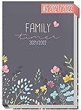 Family-Timer 2021/2022 A5 [Happy Flower] Der Familien-Kalender 18 Monate: Juli 21 bis Dezember 22   Familien-Planer für bis zu 4 Personen + viele hilfreiche Features   nachhaltig & klimaneutral