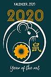 Kalender 2020: Terminkalender Chinesisches Horoskop Als Geschenk Für Sternzeichen Ratte Fans Jahreskalender 2020 A5 1 Woche 2 Seiten / 6X9 Zoll 120 ... Kollegen Beruf Studium Schule Und Familie