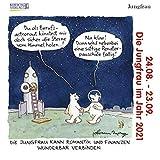 Jungfrau Mini 2021: Sternzeichenkalender-Cartoon - Minikalender im praktischen quadratischen Format 10 x 10 cm.