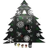 Hallingers Riesiger 24 Tee-Adventskalender als Baum (345g) - Merry Christmas (Adventsbaum) - zu Weihnachten Adventskalender