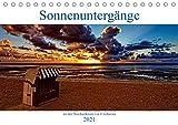 Sonnenuntergänge, an der Nordseeküste vor Cuxhaven (Tischkalender 2021 DIN A5 quer)