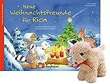 Neue Weihnachtsfreunde für Rica mit Stoffschaf. Ein Adventskalender zum Vorlesen und Gestalten eines Fensterbildes (Adventskalender mit Geschichten für Kinder: Ein Buch zum Vorlesen und Basteln)