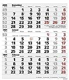 3-Monats-Planer XL Comfort 2021: 3-Monatskalender extra groß I Wandplaner / Bürokalender mit Datumsschieber, Vor-und Nachmonat und Jahresübersicht I 30 x 39 cm