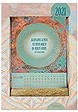 2021 Mehr Achtsamkeit im Alltag: Kartenkalender - Kartenhalter aus echtem Holz