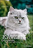 Stefan Heine Katzen Quizkalender 2022 Wochenkalender - Quizkalender - Rätselkalender - Jede-Woche-neue-Rätsel - Tierkalender - 23,7x34