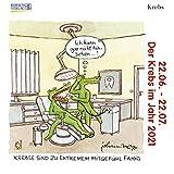 Krebs Mini 2021: Sternzeichenkalender-Cartoon - Minikalender im praktischen quadratischen Format 10 x 10 cm.