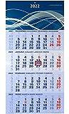 der blaue 4-Monatskalender Kompakt 2022 blauer Bürokalender großer Wandkalender