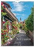 Wandkalender 2021 Wunderbares Schweden | Wunderschöne Motive der schönen Landschaften Schwedens | 1 Blatt pro Monat | FSC-zertifiziertes klimafreundliches Papier