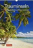 Trauminseln Kalender 2021: Wochenplaner, 53 Blatt mit Zitaten und Wochenchronik