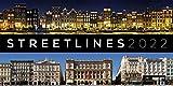 Streetlines Kalender 2022, Wandkalender im Querformat (66x33 cm) - Architekturkalender mit Häuserfassaden, Straßenszenen