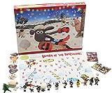 Shaun the Sheep Weihnachts Adventskalender Wallace and Gromit Enthalt Figuren Puzzles Brettspiel und Aufkleber Kalender für Kinder