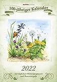 100-jähriger Kalender 2022 - Bildkalender A3 (29,7x42 cm) - mit Feiertagen (DE/AT/CH) und Platz für Notizen - inkl. Bauernregeln - Wandkalender