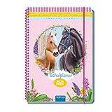 Color-Schulplaner, Pferde, 2021/2022, Hausaufgabenheft für die Grundschule: Planer Schülerkalender Hausaufgabenheft Timer für die Grundschule