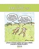 Löwe 2021: Sternzeichenkalender-Cartoonkalender als Wandkalender im Format 19 x 24 cm.