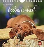 Ich wünsch dir … Gelassenheit Postkartenkalender 2021 - Kalender mit perforierten Postkarten - zum Aufstellen und Aufhängen - mit Monatskalendarium - Format 16 x 17 cm