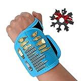 NXM Magnetisches Armband Werkzeug Bestes Männer Geschenke Magnetisches Armband Magnetarmband Handwerker Mit Leistungsstarken Magneten, Adventskalender Männer Papa Geschenk,Blau
