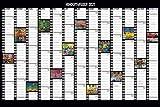 Hundertwasser Jahresplaner Art 2021: Wandplaner