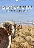 ISLANDPFERDE an der Küste von Snæfellsnes (Wandkalender 2022 DIN A3 hoch)