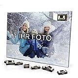 printplanet - Foto Adventskalender mit eigenem Bild personalisiert - mit Sarotti Schokolade gefüllt - Größe 35,5 x 24,5 cm - 2020
