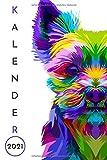 Hundekalender 2021: wochenplaner 2021 hunde - Wochenkalender von Januar bis Dezember 2021 - buchkalender 2021 1 woche 2 seiten - jahresplaner ... - geschenk für hundebesitzer frauen männer