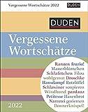 Duden - Vergessene Wortschätze - Kalender 2022 - Harenberg-Verlag - Tagesabreißkalender mit vergessenen Worten - 11 cm x 14 cm