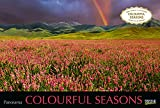 Colourful Seasons 2022: Großer Foto-Wandkalender mit Bildern von Jahreszeiten in der Natur. Edler schwarzer Hintergrund. PhotoArt Panorama Querformat: 58x39 cm.