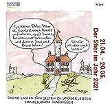 Stier Mini 2021: Sternzeichenkalender-Cartoon - Minikalender im praktischen quadratischen Format 10 x 10 cm.