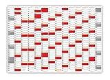 XXL Wandkalender DIN A0 2021 gerollt (rot2) - Sehr groß im Format (840 x 1188 mm) mit extra großen Tageskästchen (Jahreskalender werden gerollt versendet)