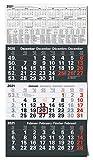 Kalender 3-Monatskalender 2021 Wandkalender groß - Kombi 3 Monatskalender ohne Werbung mit Datumsschieber   Bürokalender Monatsübersicht drei Monate mit Jahresübersicht   XXL 56 x 30 cm Planer