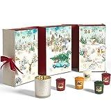 Yankee Candle Adventskalender 2020 in Buchform | Kerzen mit Weihnachtsduft | 12 Votivkerzen, 12 Teelichter & 1 Votivkerzenhalter | Magical Christmas Morning Collection