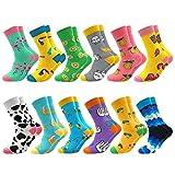 Facefuture Mitte Kalb Bunte Socken Lustige Socken Phantasie Strümpfe Glücklich Baumwolle Sock 12 Paar(1204)