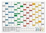 Rainbow Wandkalender/Wandplaner 2022 (gerollt) DIN A0 Format (841 x 1189 mm) 14 Monate, komplette Jahresvorschau 2023 und Ferientermine/Feiertage aller Bundesländer