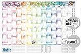 Abwischbarer Wandkalender Schuljahr 2020/2021 | Maße: 89cm x 63cm (A1) | Übersichtlicher Schuljahres-Kalender, Schuljahres-Planer inkl. Ferientermine & Stundenpläne | nachhaltig & klimaneutral