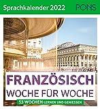 PONS Sprachkalender Französisch 2022: Woche für Woche
